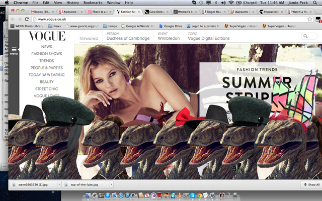 Vogue's Raptor Easter Egg