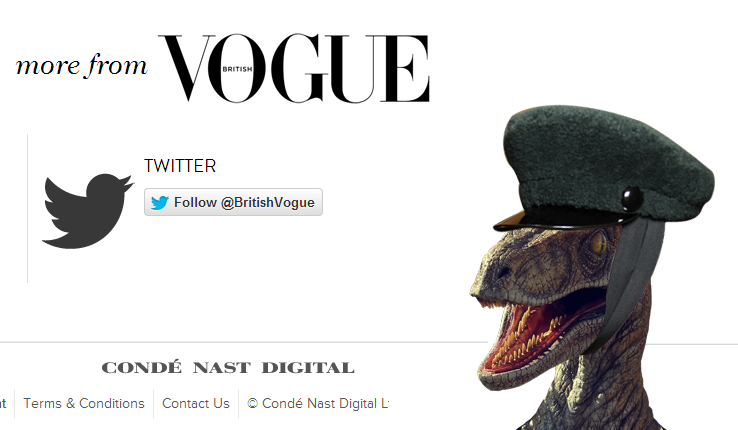 Vogue Raptor Easter Egg